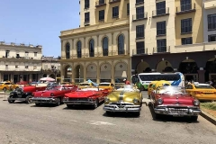 In a parking waiting for tourists in Havana