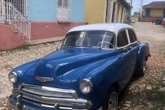 Blue Chevrolet in Trinidad