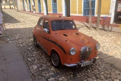 Old orange car