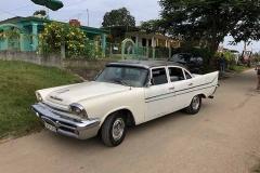 White car in Viñales