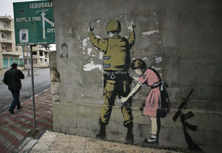 The Israeli soldier and the girl