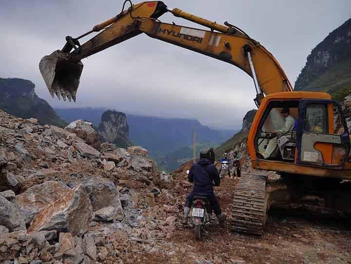 Roads under construction