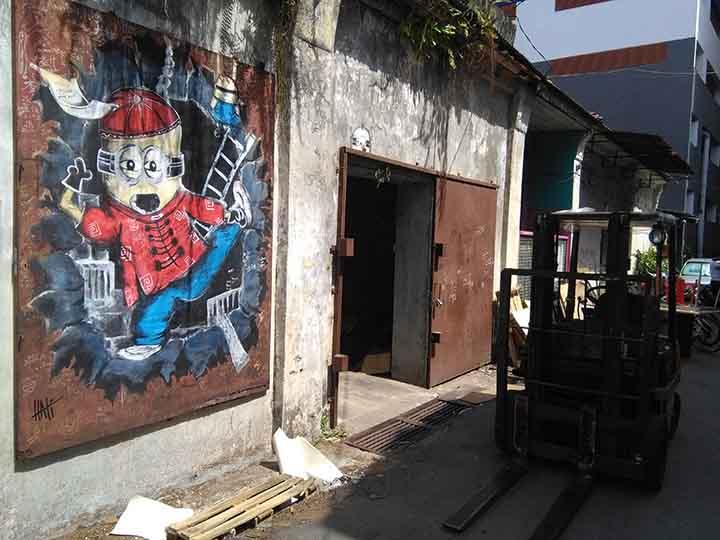 industrial mural