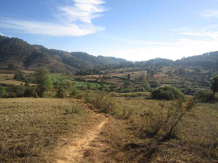 Trekking from Kalaw
