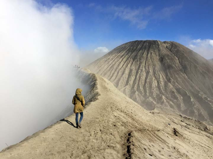 Walking on Bromo