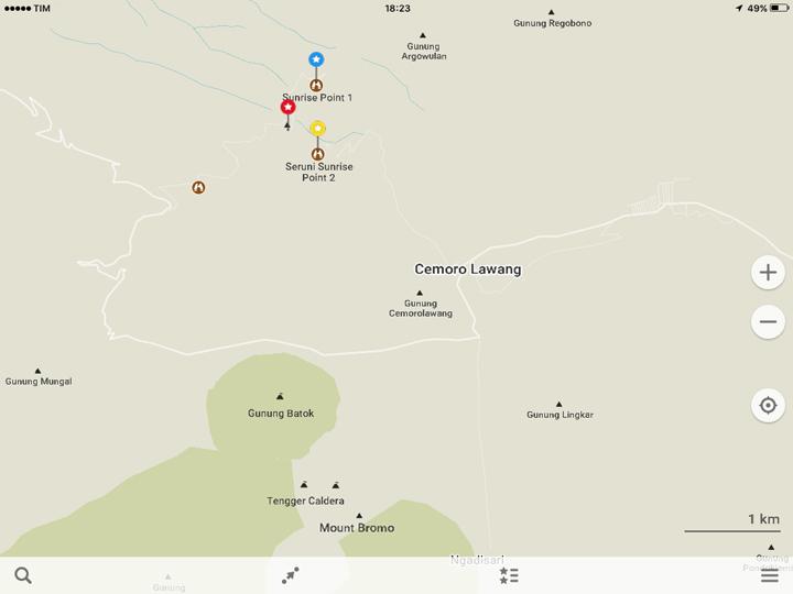 maps me Bromo