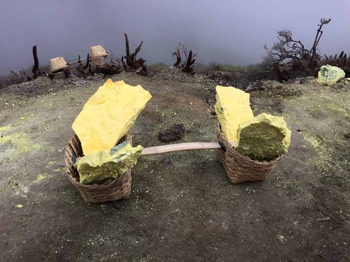 Sulfur baskets